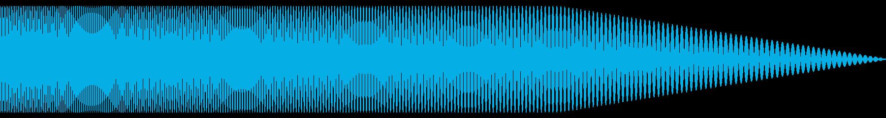 ハリウッド映画でよく聞く低音の効果音1の再生済みの波形