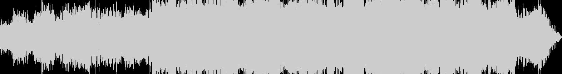 暗く、重い、シネマテイックドローン曲の未再生の波形