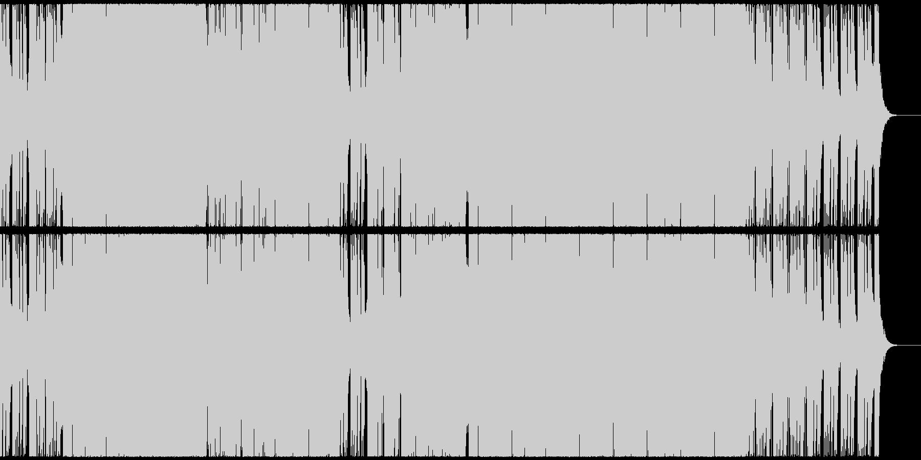ポップで軽快なポジティブEDMハウスの未再生の波形