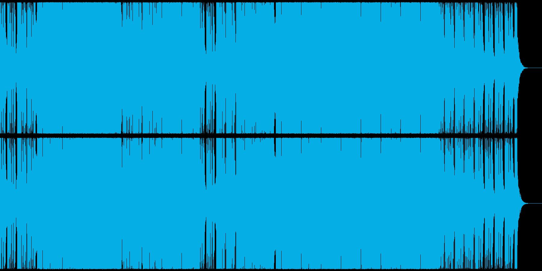 ポップで軽快なポジティブEDMハウスの再生済みの波形