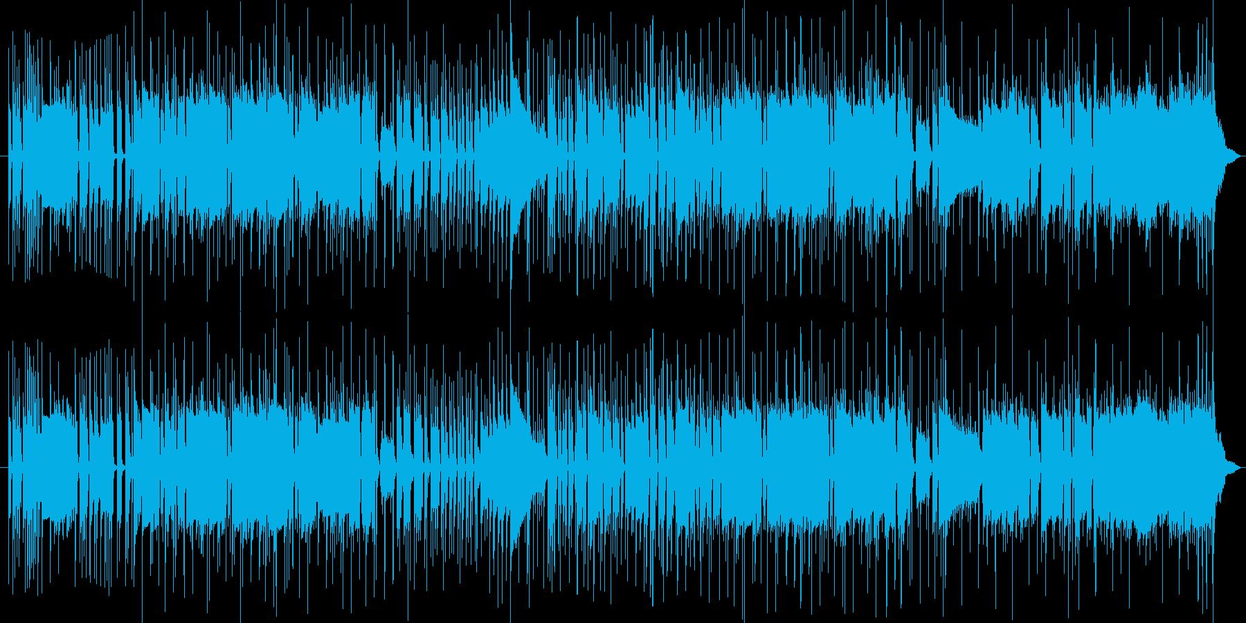 イケイケなベース主役のBGMの再生済みの波形