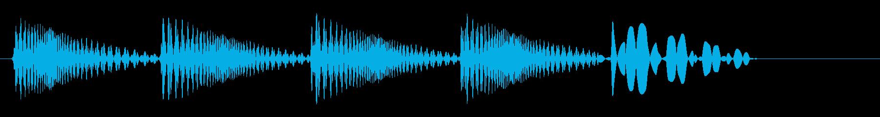 ビヨビヨビヨン(跳ね返ったような音)の再生済みの波形