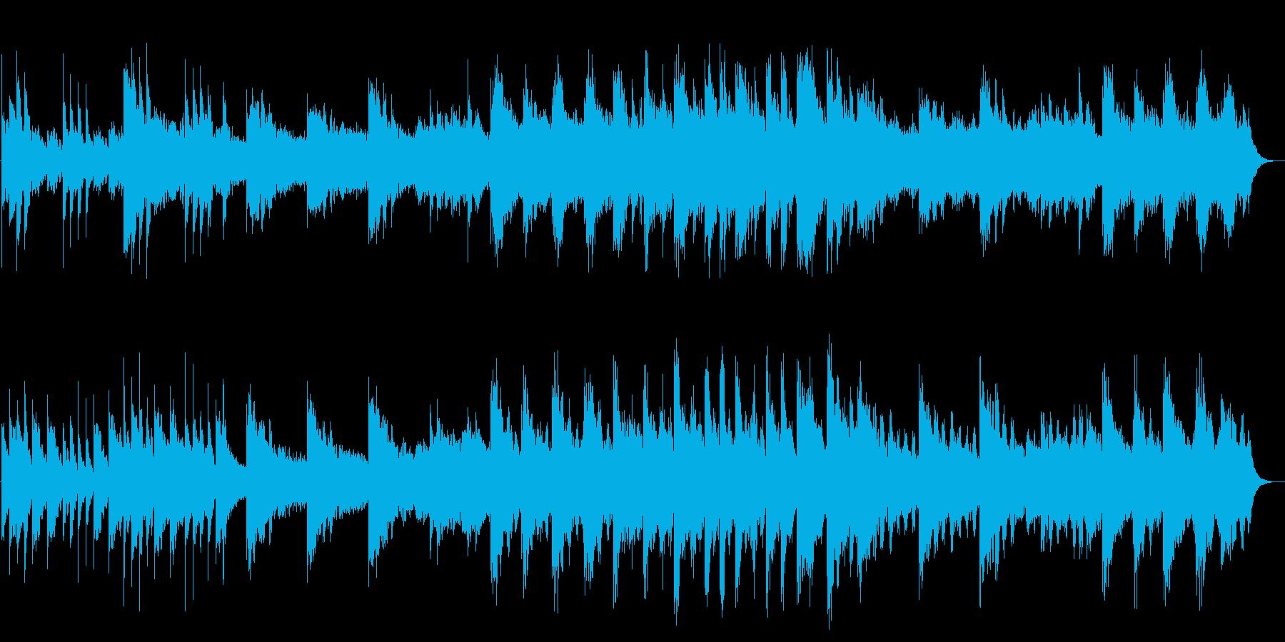 透明感があり広がりを感じるBGMの再生済みの波形