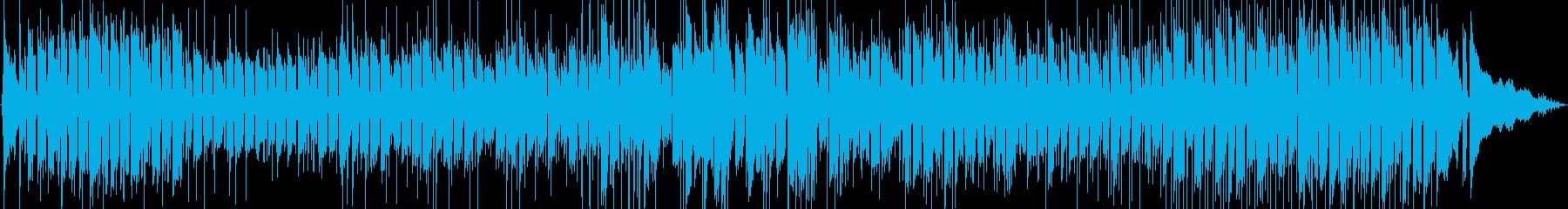 パーカッションとピアノのラテンロッ...の再生済みの波形