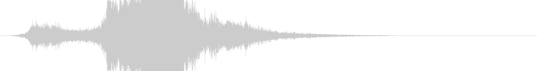 RPG系魔法イメージ音06 風の未再生の波形