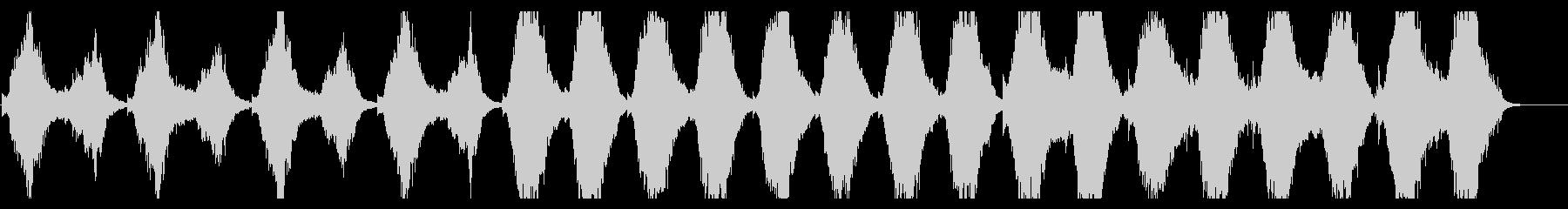 映画レヴェナントのテーマを思わせる楽曲の未再生の波形