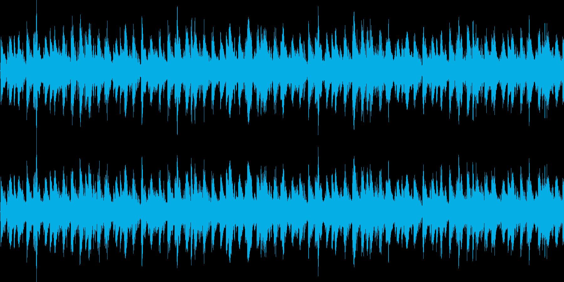 BGMに最適 おしゃれなループ音源の再生済みの波形