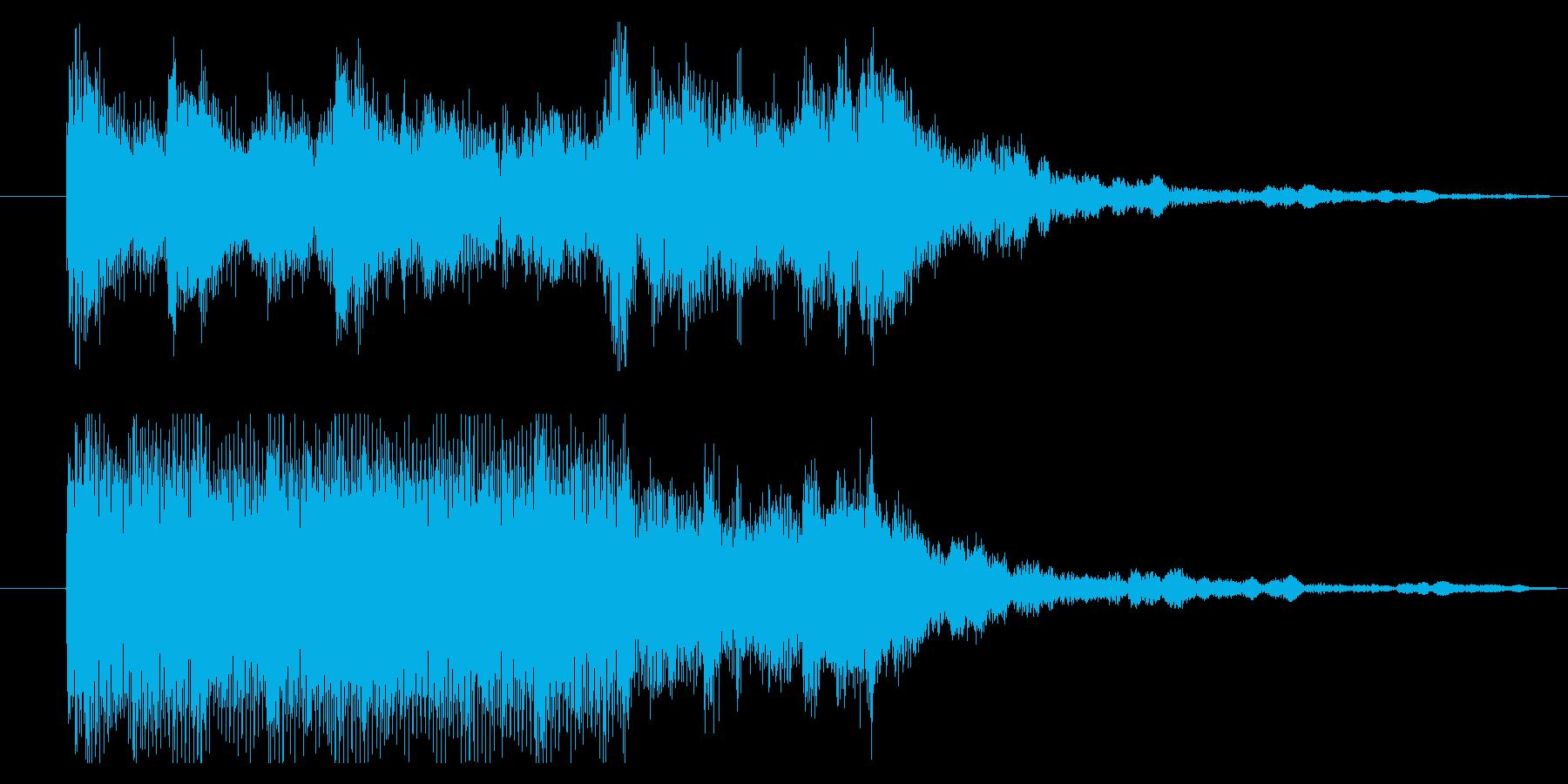 サウンドロゴ 、ジングルの再生済みの波形
