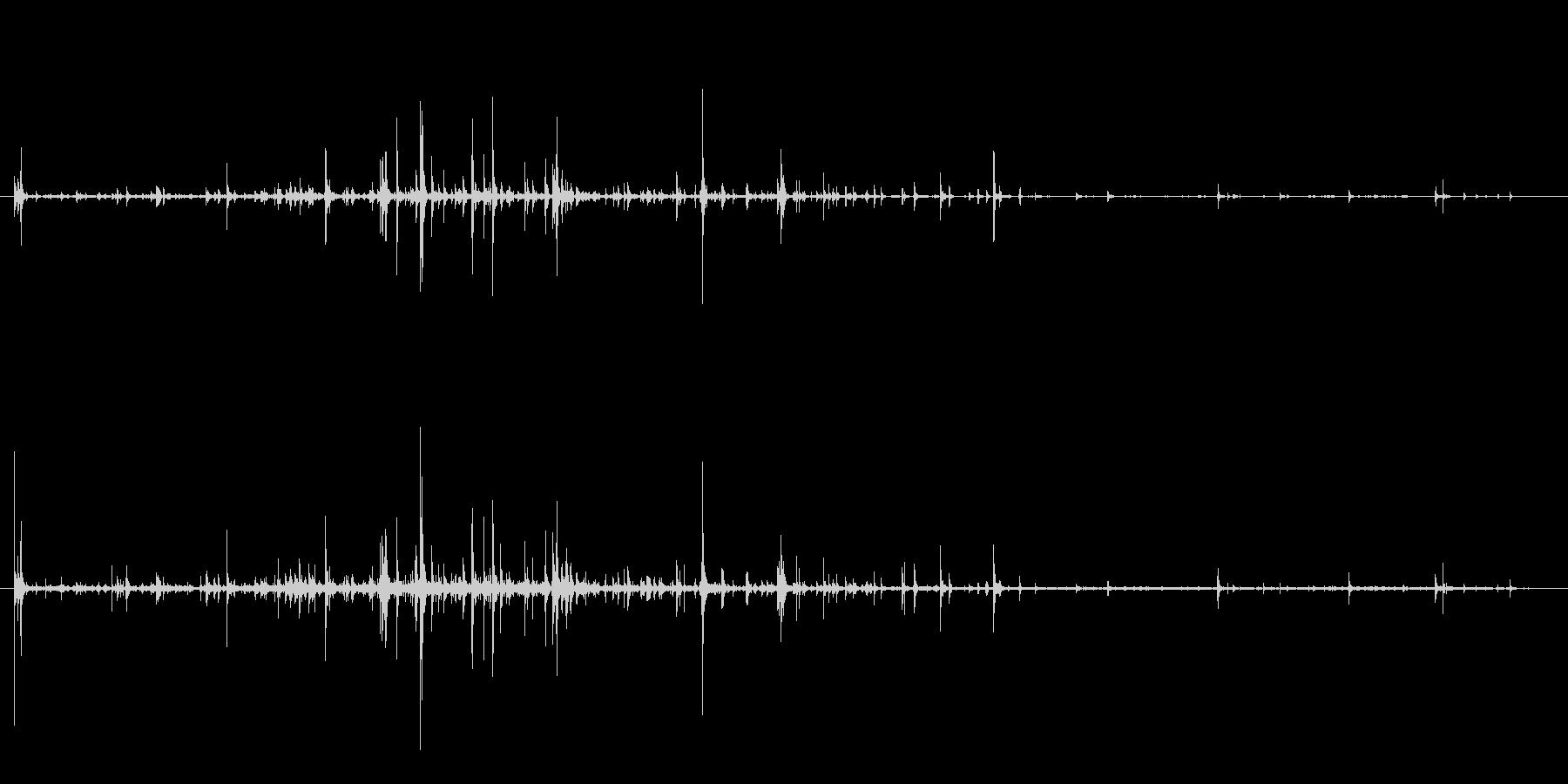 石 ラージフォールロング01の未再生の波形