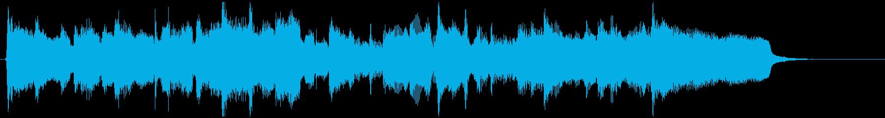 故郷を思い起こすようなフルートの15秒曲の再生済みの波形
