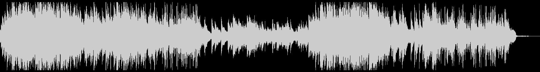 電子処理された不思議なピアノソロ曲の未再生の波形