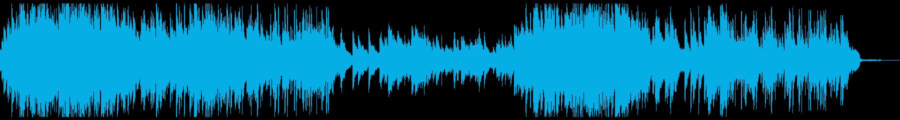 電子処理された不思議なピアノソロ曲の再生済みの波形