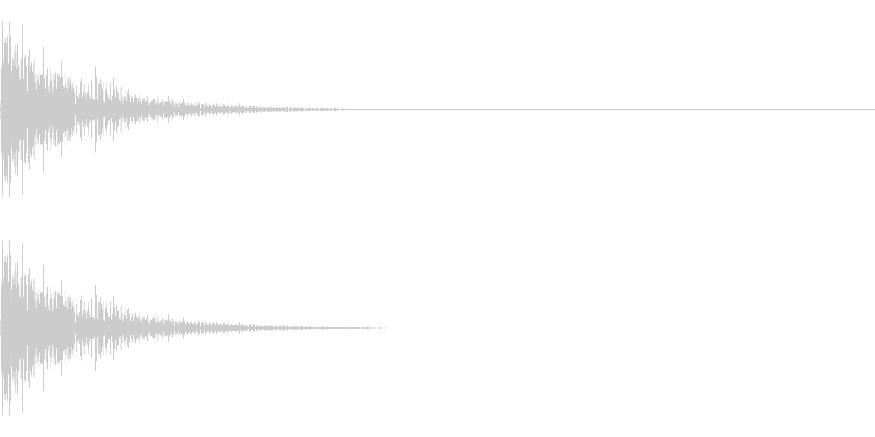 金属に物が当たる音(はじく、コミカル)の未再生の波形