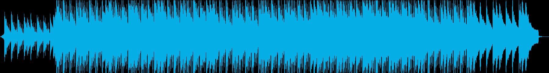 オシャレ・エモーショナルな映像用音楽の再生済みの波形