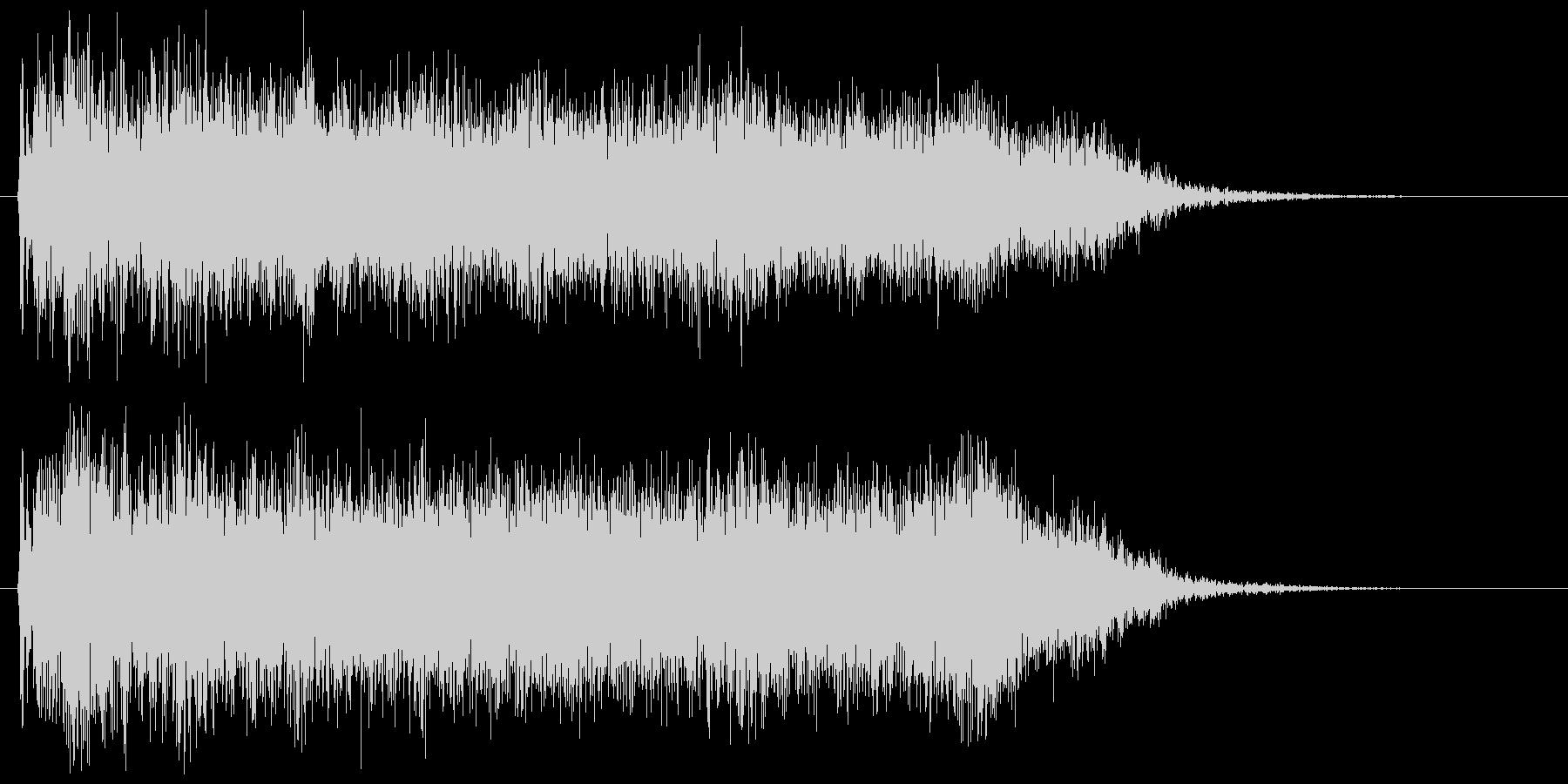 メタルギターフレーズ ダーク 場面転換の未再生の波形
