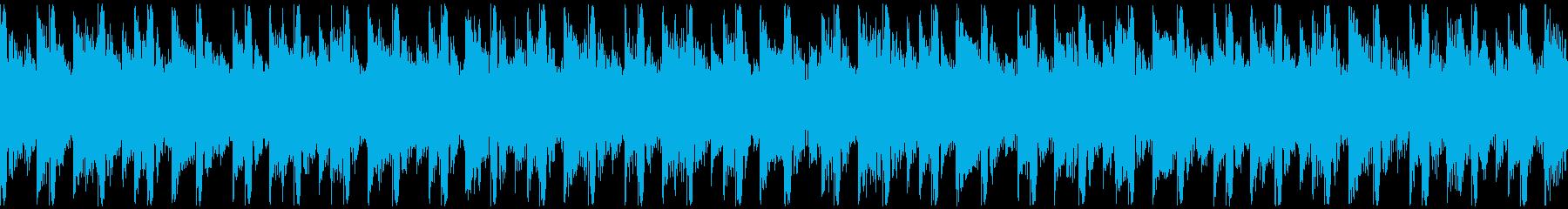 高揚感あふれるポップ(ループ)の再生済みの波形