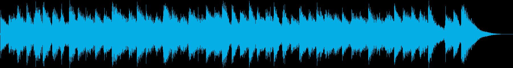 落ち着いた癒しギターアルペジオの再生済みの波形