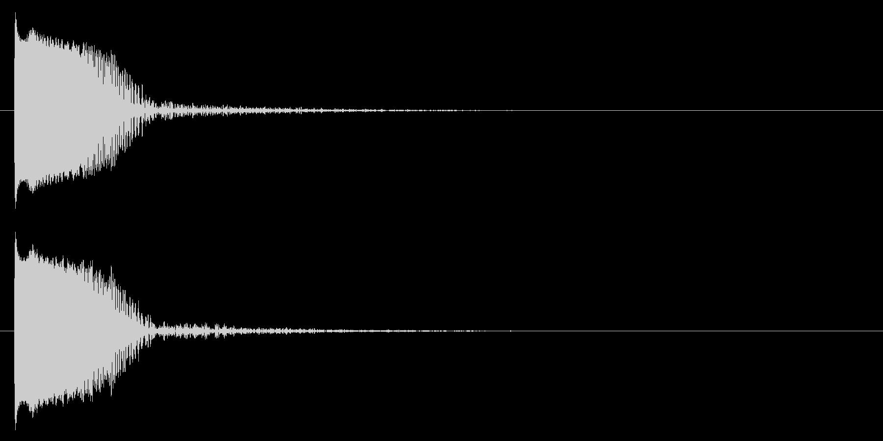 クラブ系 決定音08(プチュン)の未再生の波形