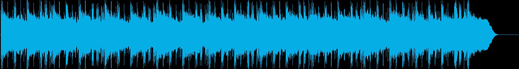 近未来サスペンス風の暗いBGMの再生済みの波形