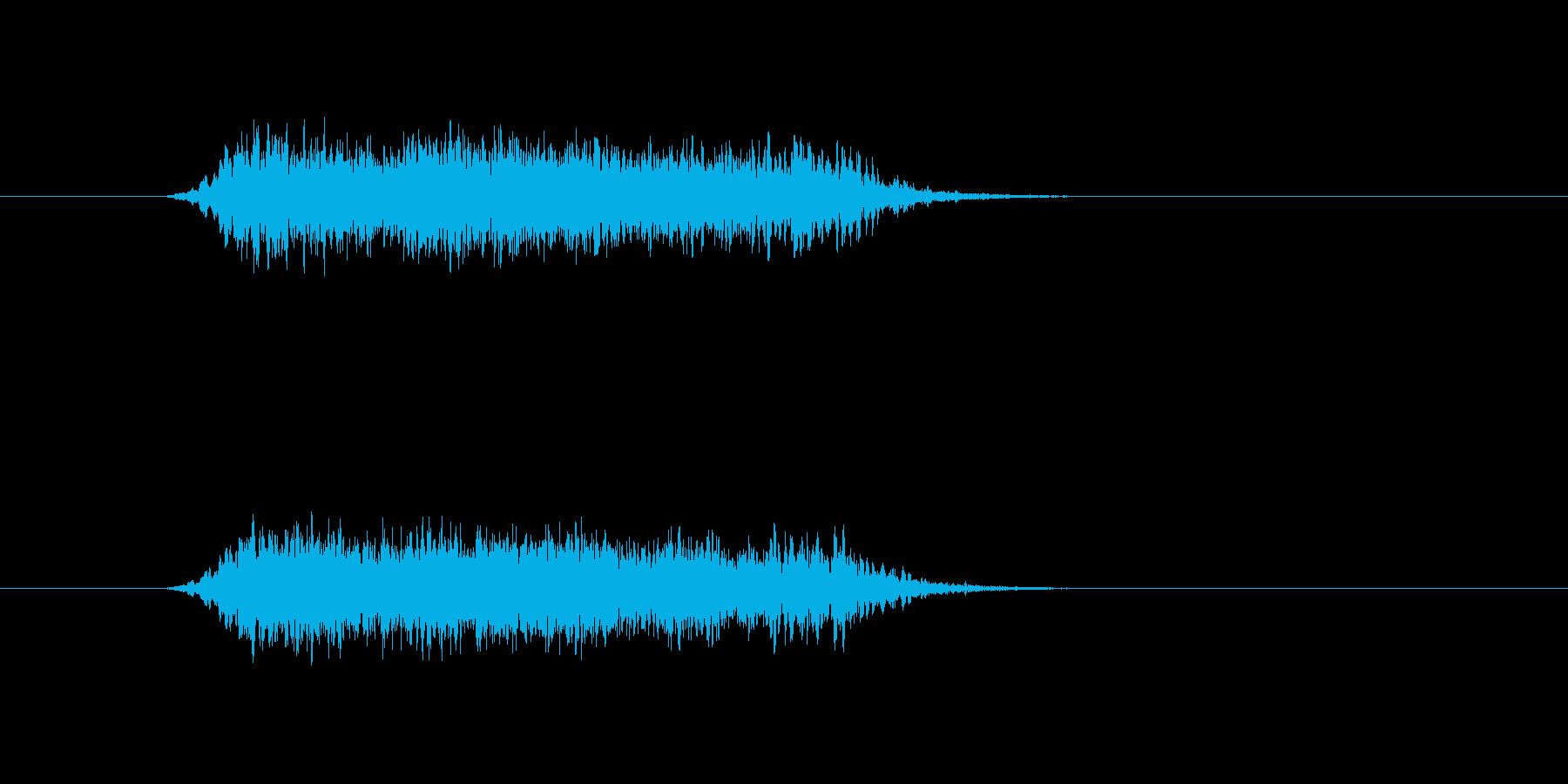象の鳴き声です。の再生済みの波形
