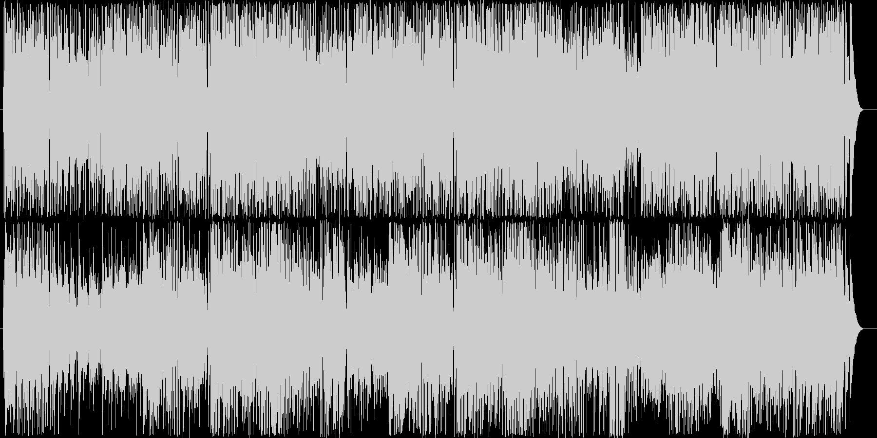爽やかで疾走感のあるアコギのBGM2の未再生の波形