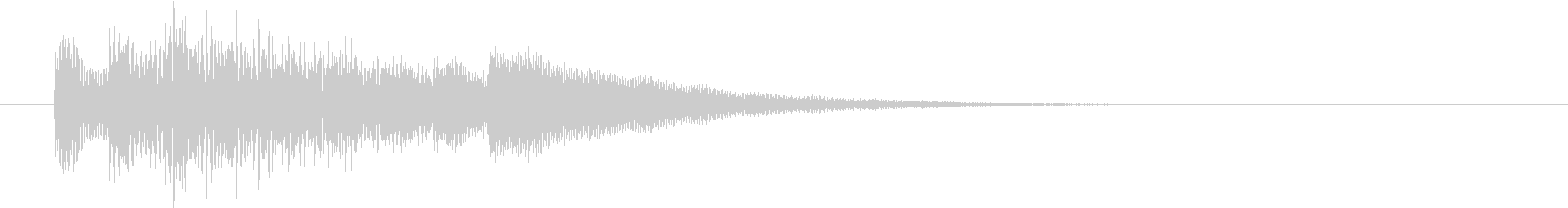 不思議なビブラフォンの駆け上がりの未再生の波形
