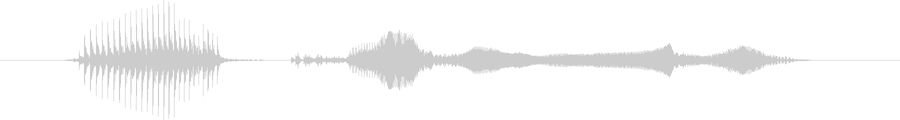 かっくいーの未再生の波形