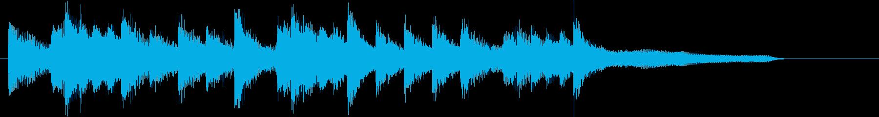 お正月・春の海モチーフのピアノジングルEの再生済みの波形