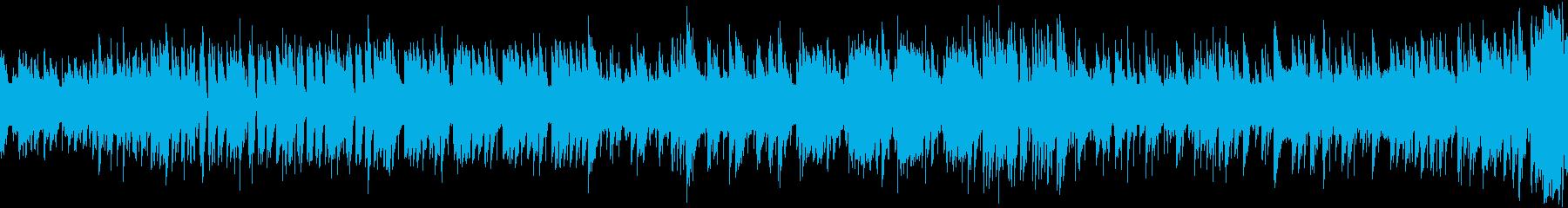 8bit スペースチックな曲 ループ仕様の再生済みの波形