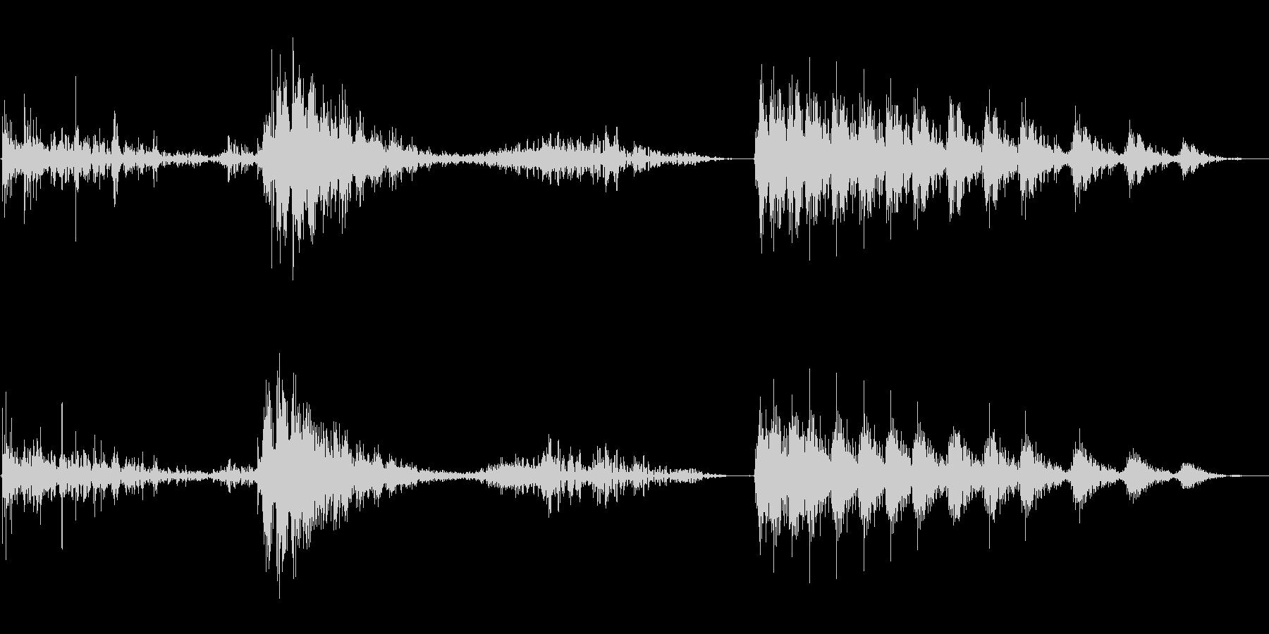 コンピューターのテレメトリ機能ボタ...の未再生の波形