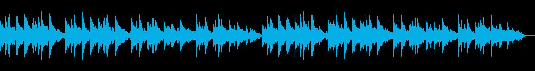 悲しく重い深刻なシーンに合う低音ピアノの再生済みの波形