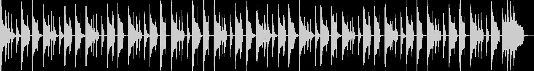まぬけでコミカルな曲の未再生の波形