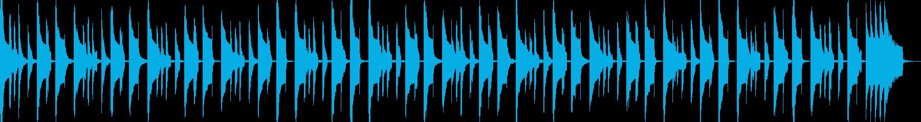 まぬけでコミカルな曲の再生済みの波形