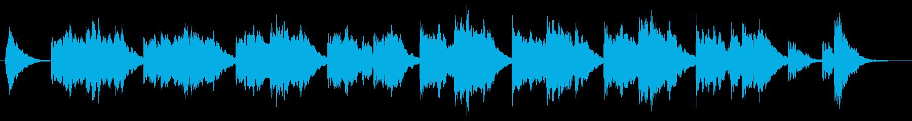 明るいイメージの間奏曲の再生済みの波形
