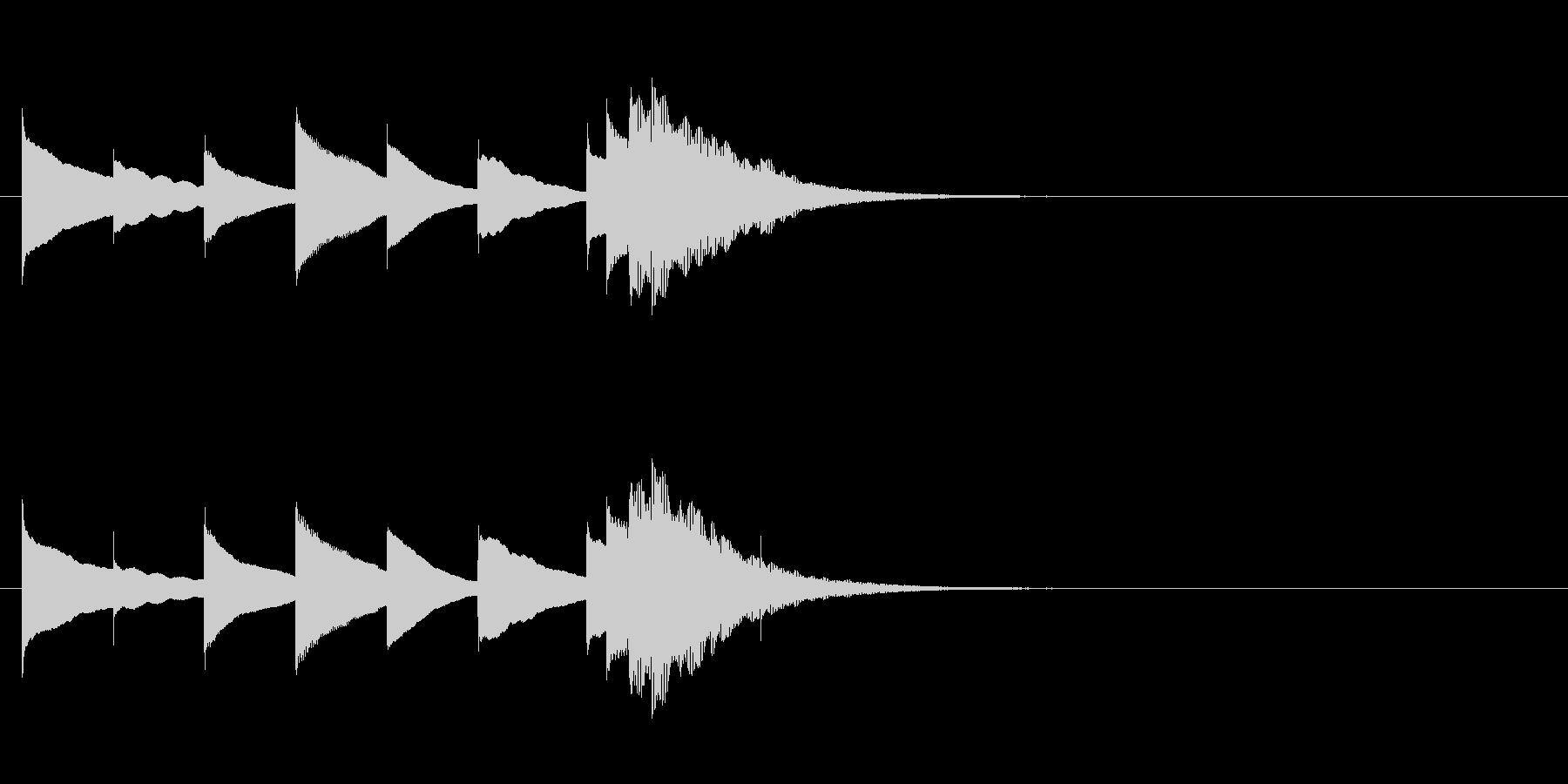 ほのぼのオルゴールジングル・長調の未再生の波形