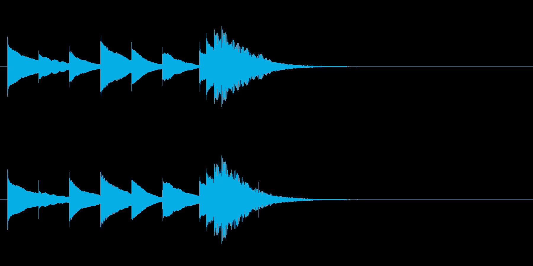 ほのぼのオルゴールジングル・長調の再生済みの波形