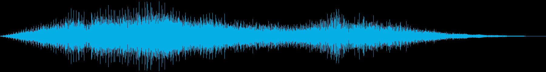 上空を飛ぶプロペラ機の再生済みの波形