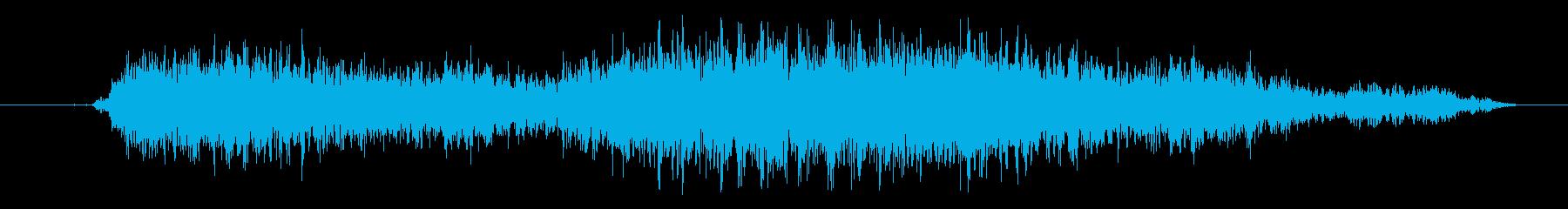 大きなクリーチャー:シューといううなるの再生済みの波形