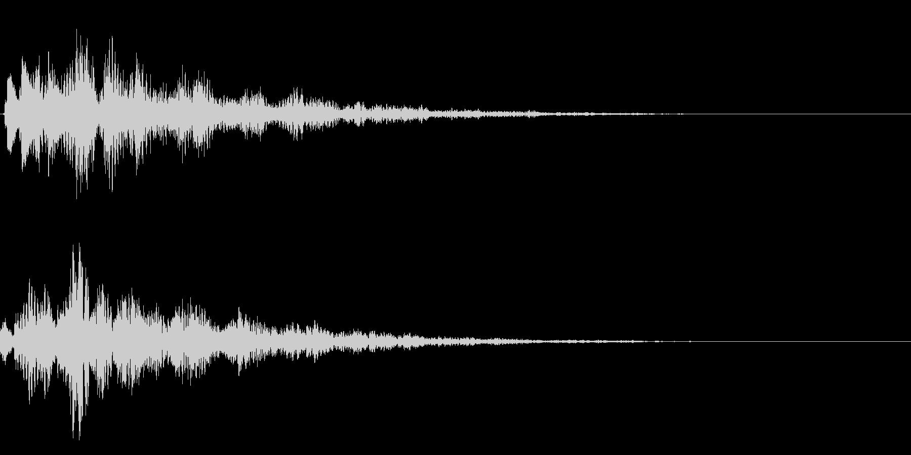決定、ひらめき等の効果音です ver2の未再生の波形