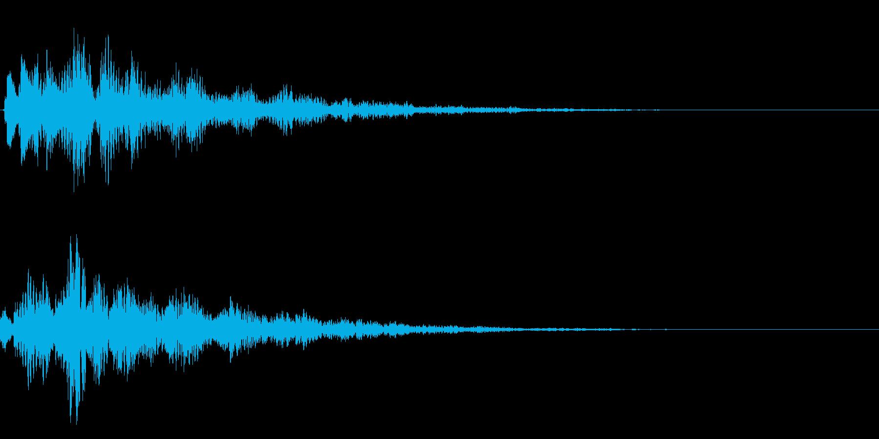 決定、ひらめき等の効果音です ver2の再生済みの波形
