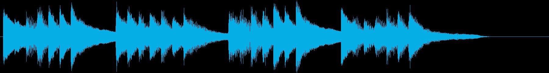 和風で温もりのあるポカポカピアノジングルの再生済みの波形