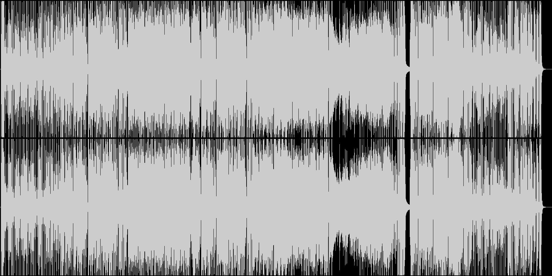 生演奏トランペットの陽気ジャズポップスの未再生の波形