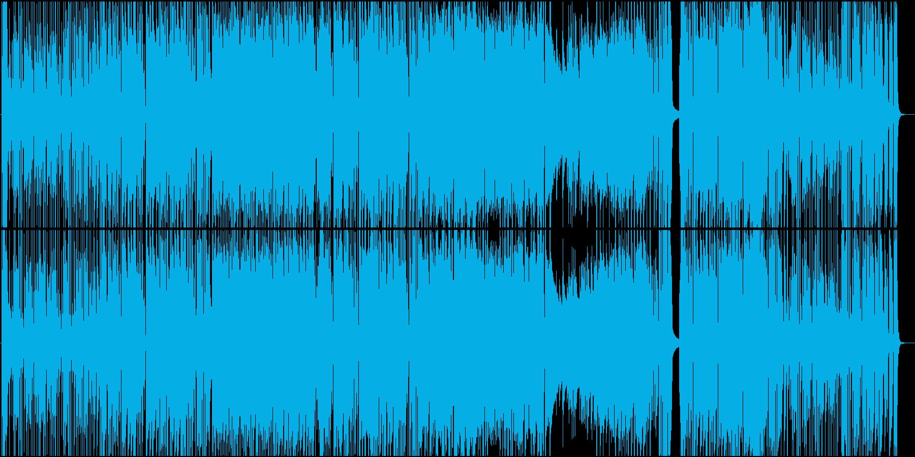 生演奏トランペットの陽気ジャズポップスの再生済みの波形