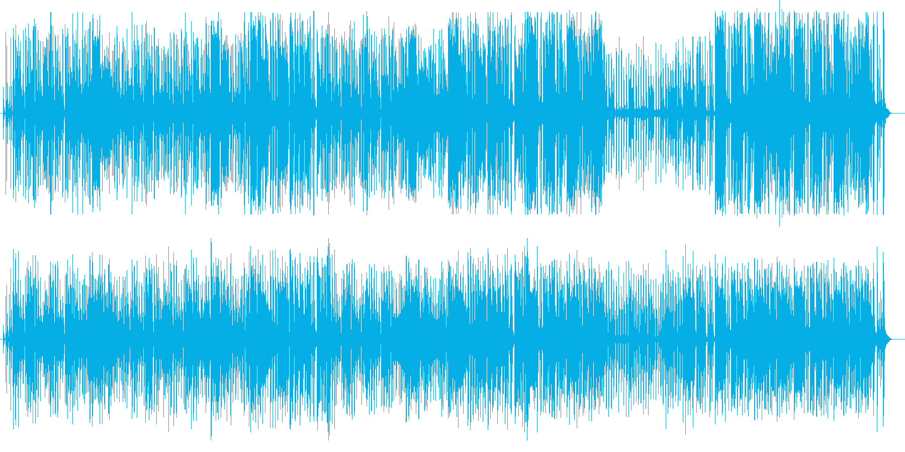 コミカルな木琴シンセ系サウンドの再生済みの波形