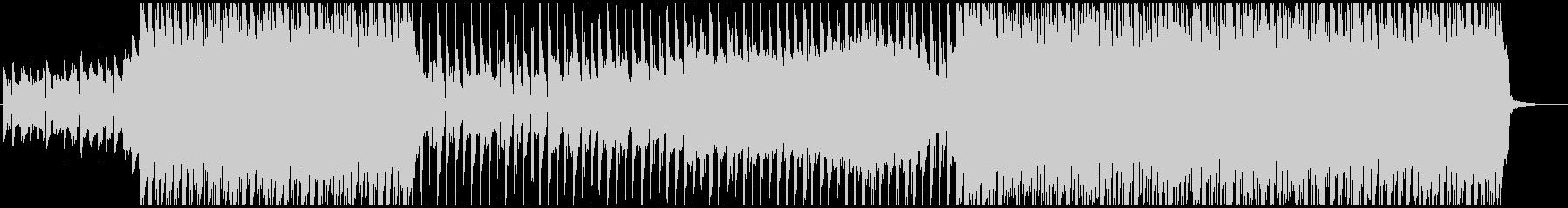 ノリノリのビートとエレクトロなシンセの曲の未再生の波形