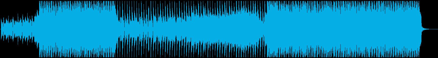 ノリノリのビートとエレクトロなシンセの曲の再生済みの波形