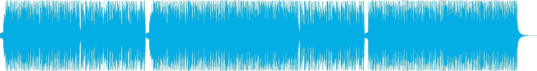 和楽器を使った明るいダンスミュージックの再生済みの波形