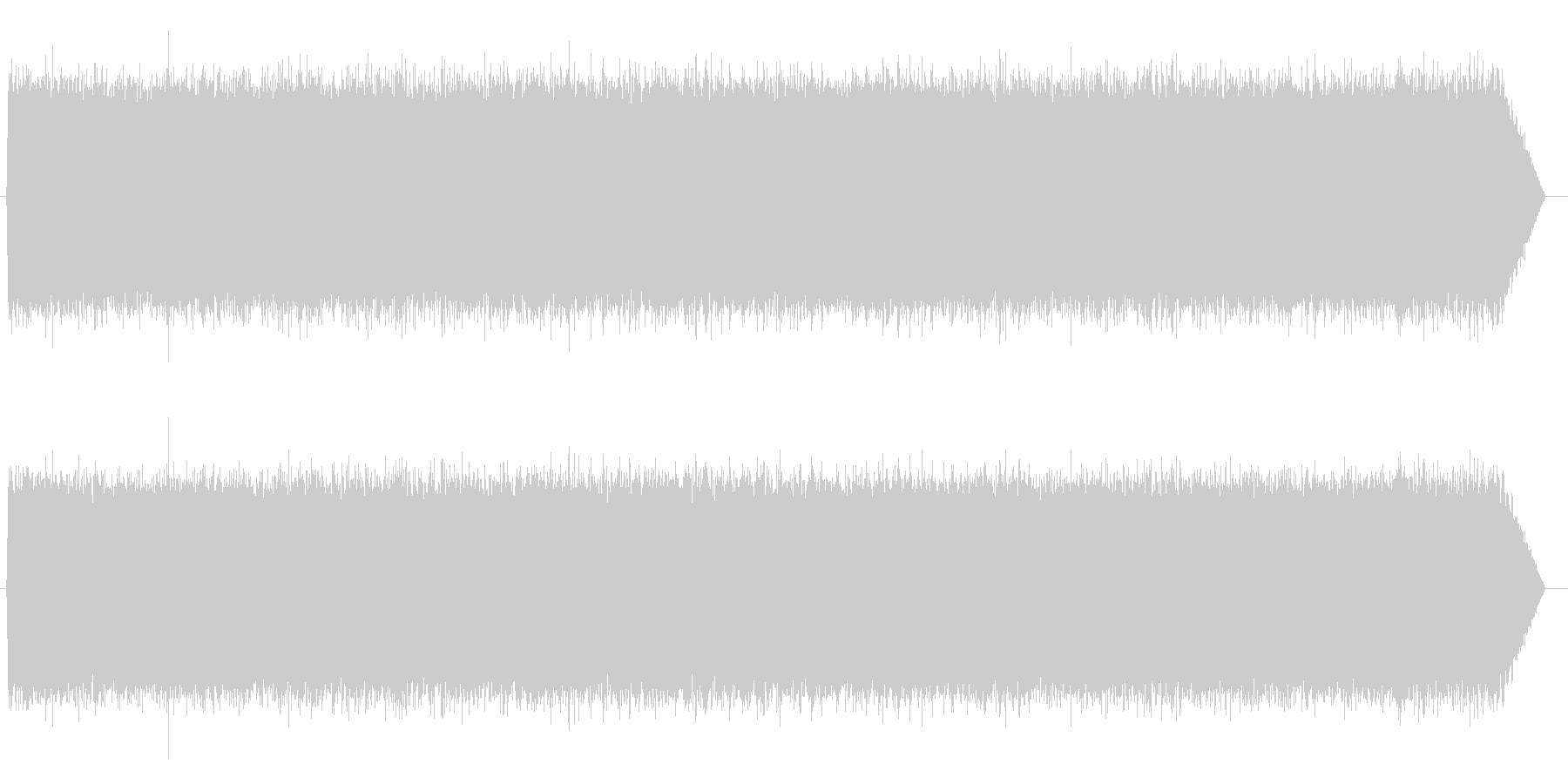 砂嵐効果音 テレビのノイズ ザー サーの未再生の波形