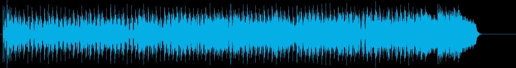 ブルージーなマイナーシャッフルロックの再生済みの波形