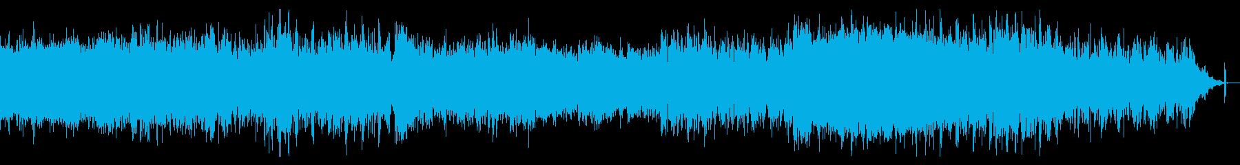 暗くオーガニックなシネマティックBGMの再生済みの波形